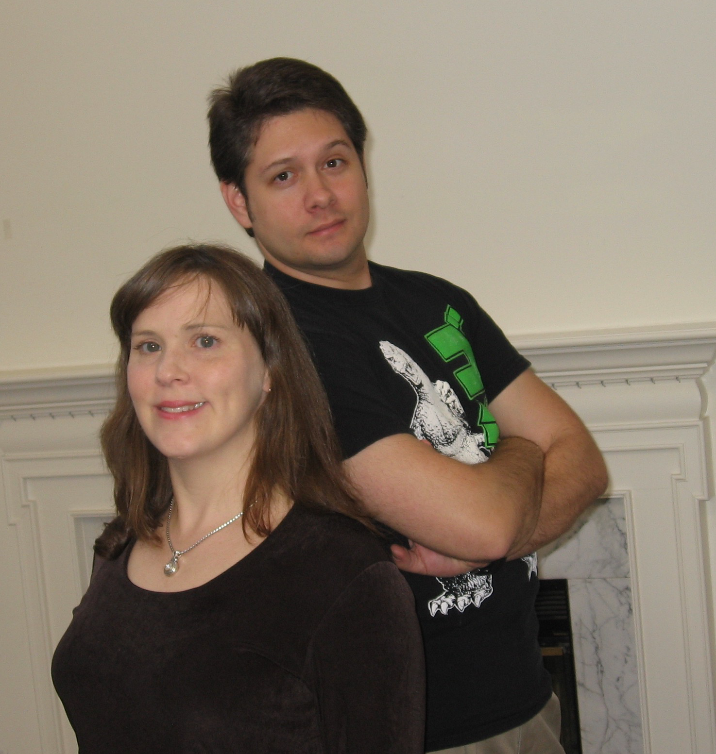 Heather and Rafael - owners of Whole Brain Escape Room