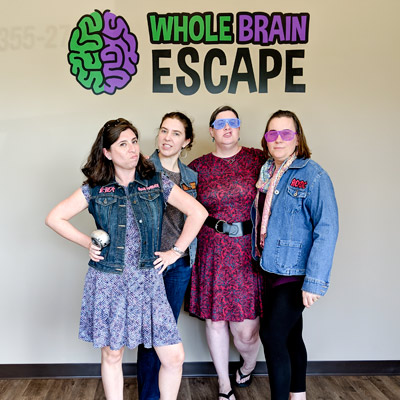 For young woman celebrating a night out at Whole Brain Escape in Apex.