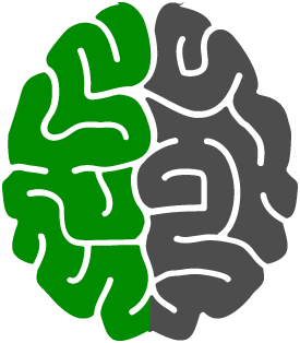 brain with left side highlighted