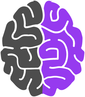 Brain with the right side highlighted