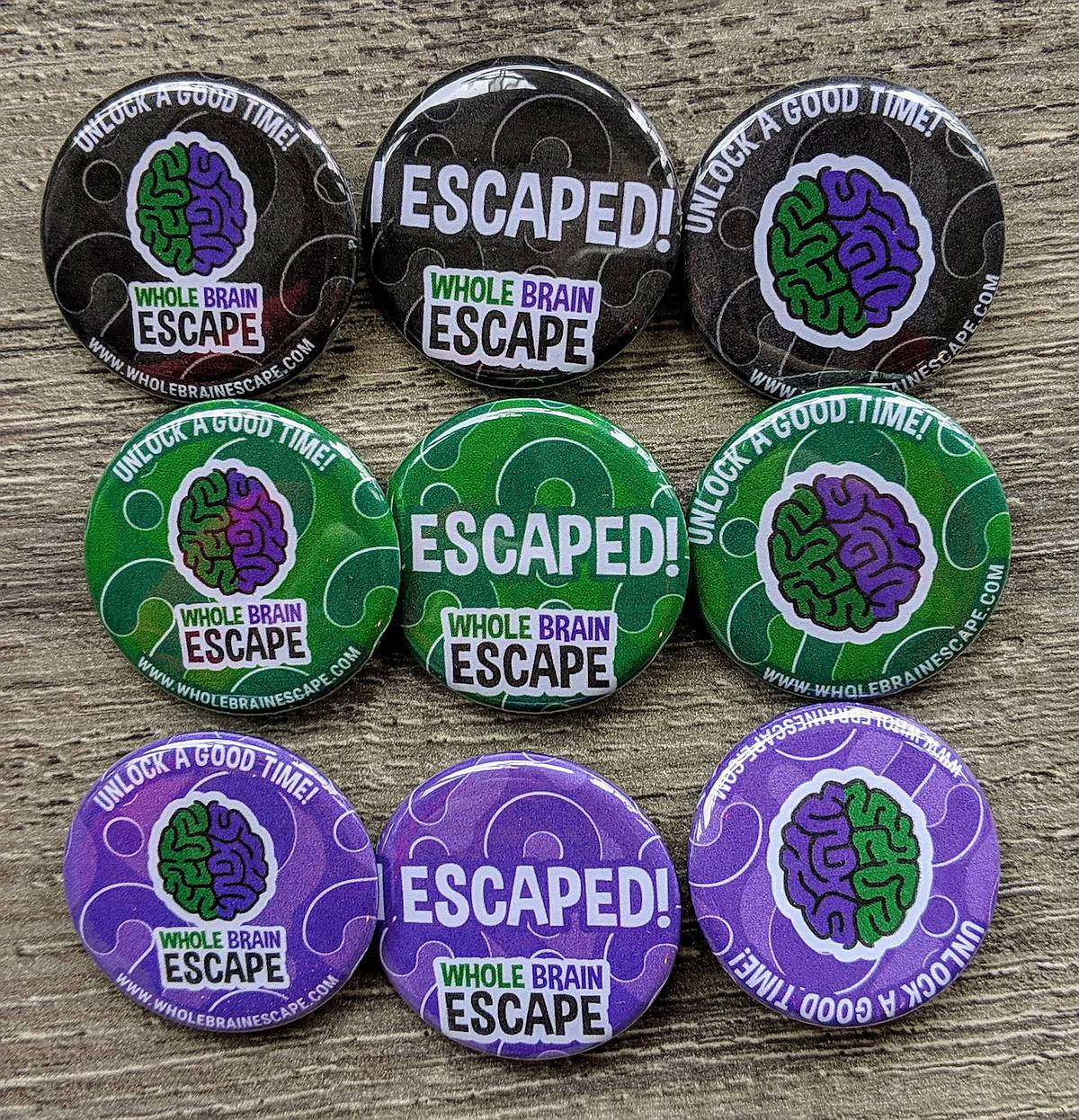 Whole Brain Escape Buttons