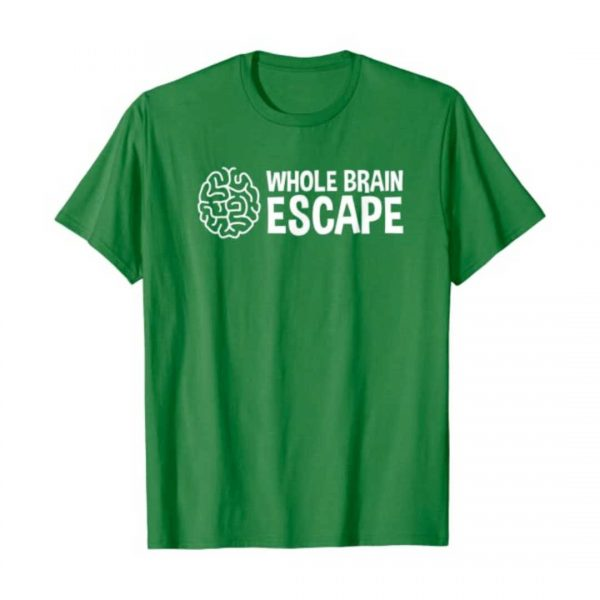 Whole Brain Escape green t-shirt