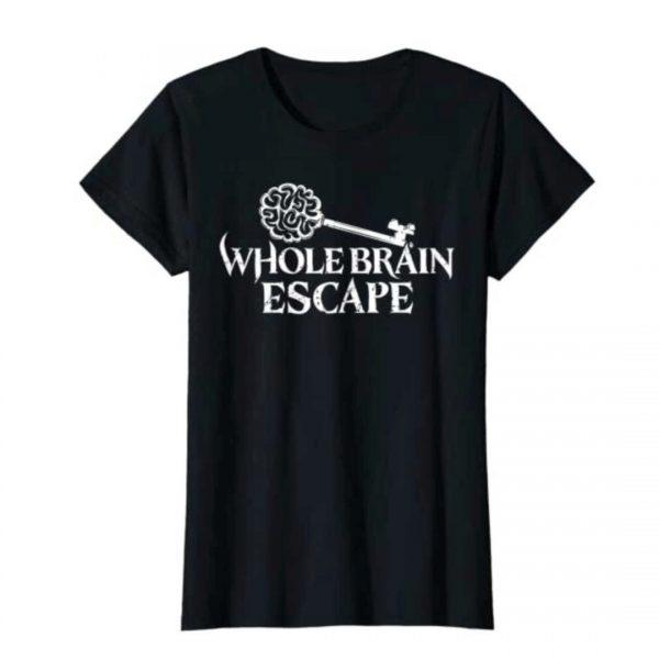 Whole Brain Escape metal logo tshirt