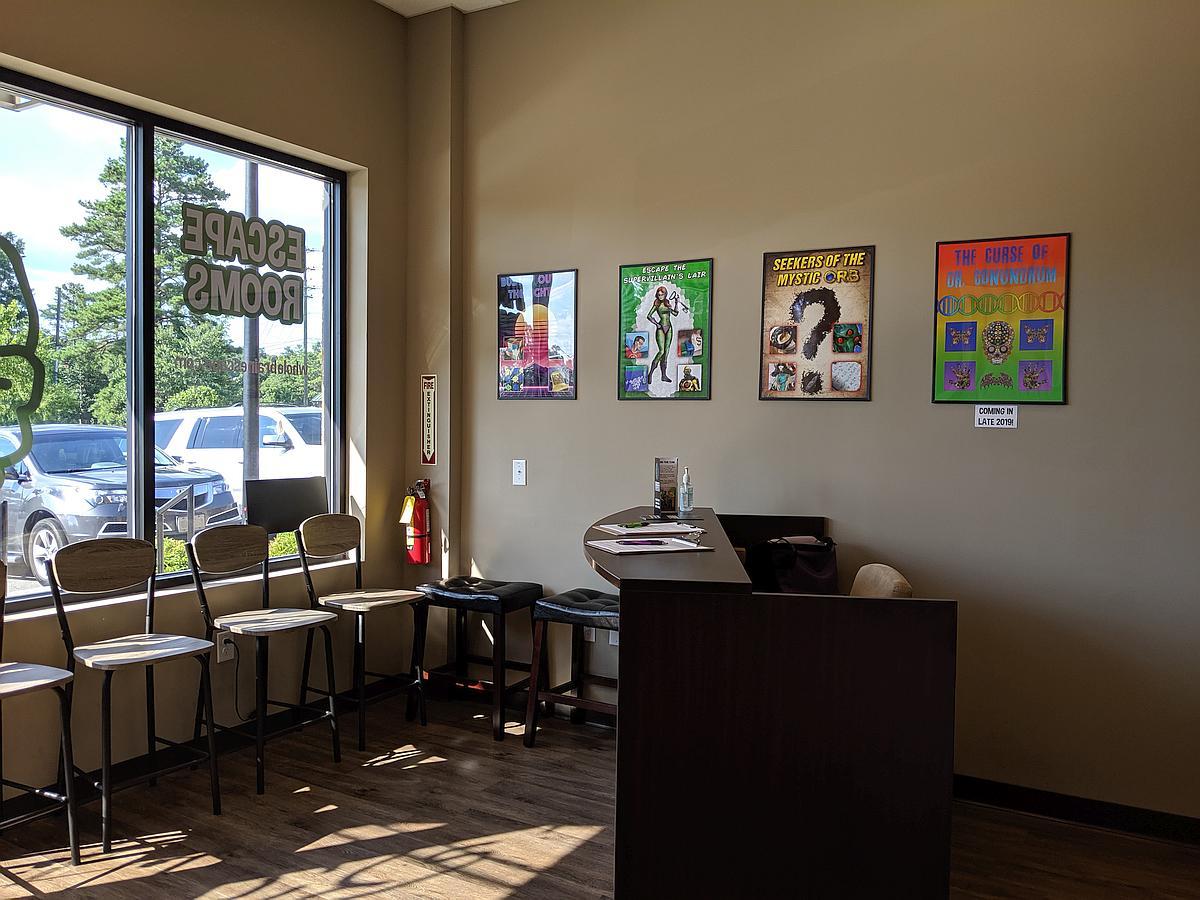 Whole Brain Escape Room Interior reception area